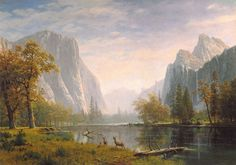 Yosemite Valleyc. 1863-75 by Bierstadt, Albert 1830-1902: at The Haggin Museum in Stockton