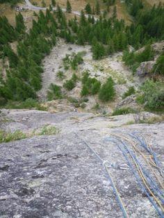escalade grande voie à Ailefroide