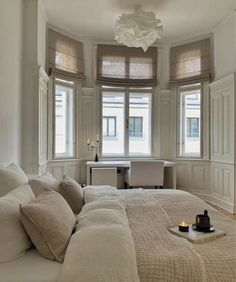 white and neutral bedroom decor design Dream Home Design, Home Interior Design, Nordic Interior, Dream Apartment, Aesthetic Room Decor, Dream Rooms, My New Room, House Rooms, Home Decor Bedroom