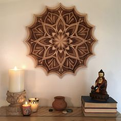 """Unbroken"" laser cut mandala by Eileen Bradley in collaboration with Daniel Antes Mandala Pattern, Mandala Design, Mandala Art, Fractal Art, Fractals, Mural Wall Art, Stencil Painting, Mandala Coloring, Flower Of Life"