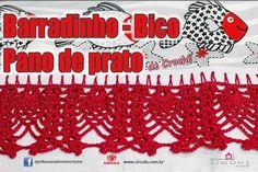 Bico/Barrado Pano de prato - Ponto Abacaxi   https://youtu.be/l4wIrWcT0t4 #crochet #professorasimone #semprecirculo #anne