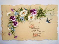 セルロイドカード - イギリスとフランスのアンティーク | バラと天使のアンティーク | Eglantyne(エグランティーヌ)