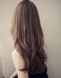 New Haircut Korean Long Layered Hair Ideas Haircuts For Long Hair, Long Hair Cuts, Wavy Hair, Ombre Hair, Fine Hair, Face Shape Hairstyles, Pretty Hairstyles, Curly Hair Styles, Medium Hair Styles