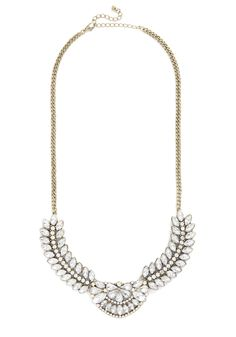 Opulence at the Opera Necklace. Its your time to shine in this sparkly, vintage-inspired statement necklace. #white #wedding #modcloth