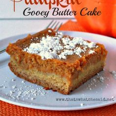 Pumpkin Gooey Butter Cake - That's What {Che} Said...