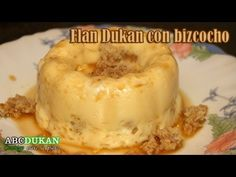 Flan dukan con trozos de bizcocho - Receta Fase Ataque - Pudding with slices of cake - recipe attack Flan Dukan, Dukan Diet, Bagel, I Foods, Cake Recipes, Recipies, Health Fitness, Pudding, Bread