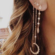 No Piercing Ear Cuff, Sterling Silver Ear cuff, Non-pierced Cartilage Wrap, Earring Fake Conch, Faux Pierced Hoop Narrow Apache Weave ENAPSS - Custom Jewelry Ideas Ear Jewelry, Body Jewelry, Jewelry Accessories, Fine Jewelry, Jewlery, Jewelry Box, Cute Ear Piercings, Multiple Ear Piercings, Tongue Piercings