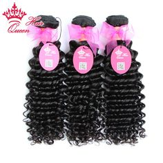 Queen Hair Products Brazilian Deep Wave Virgin Hair 100% Unprocessed Brazilian Deep Curly Virgin Hair Fast Shippping 3pcs/Lot