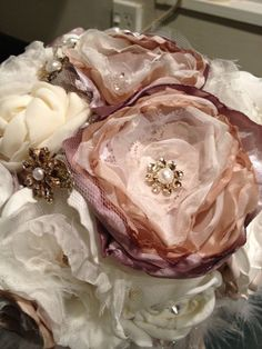 My Fabric flower Bouquet : wedding bouquet fabric flower 1 Photo 2- From Weddingbee Boards