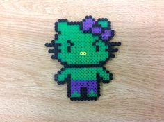 Hulk Hello Kitty perler beads by Amanda Collison