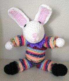 Crochet yoyo easter bunny