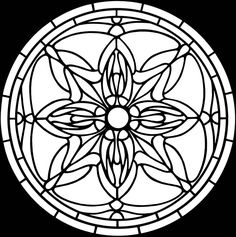 Art Nouveau Windows Stained Glass Colouring Book - Page 4 of 5