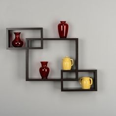 Laminate Intersecting Rectangles Wall Shelf | Overstock.com Shopping - The Best Deals on Accent Pieces