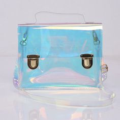 okaywowcool: holographic transparent bag| discount: shan