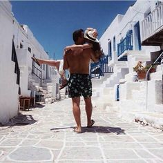 Folegandros island can do that to you. Photo by @sprs_ #Folegandros #island #couple #inlove #street #white #blue #Greece #greecestagram #greecestagramit
