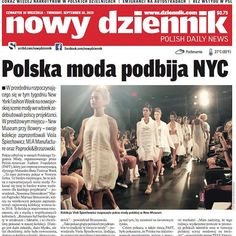 #FrontPage #CoverStory - we're here to stay! Check out Nowy Dziennik's cover of #PolishFashionWeek on our Facebook page. Thank you for the wonderful feature!