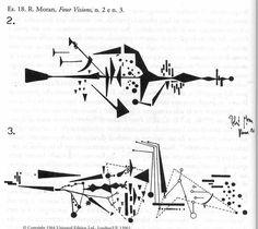 R. Moran. Four Visions (immagine tratta da Andrea Valle, La notazione musicale contemporanea, Torino, EDT 2002) ●彡