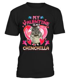 Chinchilla Valentine's Day Shirt  Funny Animals T-shirt, Best Animals T-shirt