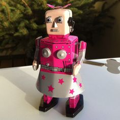I first offered one of these lovely robot girls to one of my best friends then couldn't resist I bought myself one :)