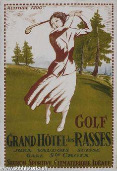 Golf Jura Vaudois - Golf. Grand Hôtel des Rasses. Jura Vaudois suisse. Gare Ste Croix. Station - sportive climatérique idéale.