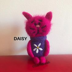 Needle Felted Soft Sculpture Gifts by on Etsy Needle Felted Cat, Needle Felted Animals, Felt Animals, Cat Lover Gifts, Cat Lovers, Felt Gifts, Unusual Animals, Quirky Gifts, Felt Cat
