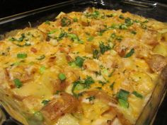 Baked potato and chicken casserole - Simple Food Recipes