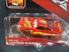 DISNEY PIXAR CARS 3 WITH CARD RUST-EZE LIGHTNING MCQUEEN 2017 SAVE 5% WORLDWIDE | eBay Mcqueen Cars 3, My Little Pony Twilight, Cars 1, Collector Cards, Disney Pixar Cars, Lightning Mcqueen, Kids Corner, Dragon Ball, Playroom