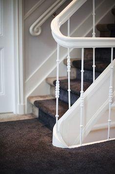 Houten bordes trap met prachtige loper allstairs trappen gang pinterest zoeken en met - Gang decoratie met trap ...