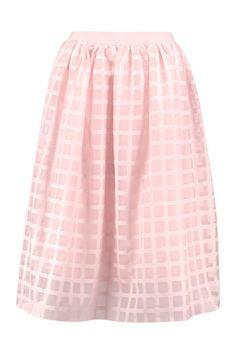 Boutique Kate Grid Tulle Midi Skirt