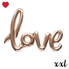 Nieuw in de shop Folieballon love roze goud xxl @jetjesenjobjes.nl