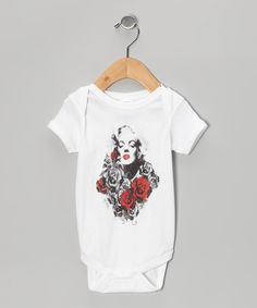 Take a look at this White Marilyn Rose Face Bodysuit - Infant by American Classics on #zulily today!