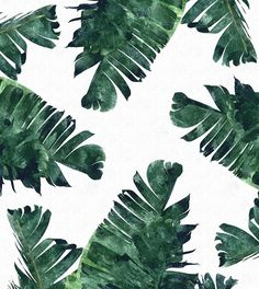 Banana Leaf Watercolor Pattern #society6 by 83oranges.com