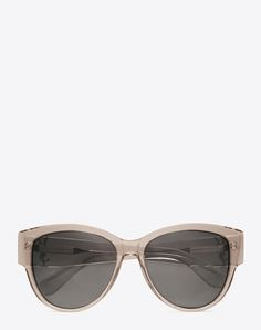 e808fe46f90 SAINT LAURENT Monogram M3 Sunglasses In Transparent Powder Acetate And  Silver Metal With Flash Silver Lenses