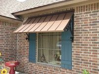 This type of timber awning is a really inspiring and top-notch idea Metal Awnings For Windows, Outdoor Window Awnings, House Awnings, Aluminum Awnings, Patio Awnings, Farmhouse Windows, Farmhouse Decor, Front Door Awning, Front Porch