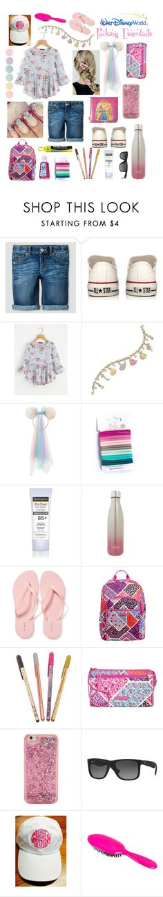 """Walt Disney World: Packing Essentials"" by valiantlaine19 ❤ liked on Polyvore featuring Converse, The Bradford Exchange, Disney, Neutrogena, S'well, Old Navy, Vera Bradley, Chapstick, ban.do and Ray-Ban"