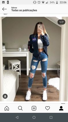 Cute Tomboy Style, Tumblr Outfits, Jean Outfits, Ripped Jeans Outfit, Outfits For Teens, Trendy Outfits, Spring Outfits, Tomboy Fashion, Outfit Goals