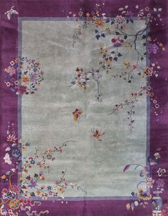 "Chinese Art Deco carpet 9'0"" x 11'7"""