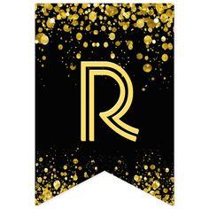 Banderines confeti del oro del ☆HAPPY BIRTHDAY☆ | Zazzle.com Happy Birthday Bunting, Happy Birthday Signs, 50th Birthday, Carrie, Printable Banner Letters, Diy Banner, Graduation Decorations, Gold Confetti, Bunting Banner