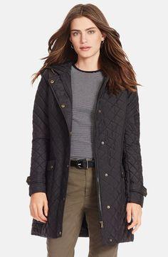 Lauren Ralph Lauren Hooded Quilted Coat   Nordstrom