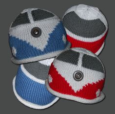 Knitting Pattern for a Beanie Hat based on the iconic VW Campervan ( Kombi, Bus ). £1.99, via Etsy.