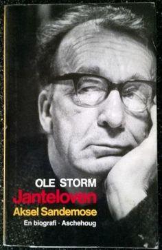 Storm, Ole: JANTELOVEN Aksel Sandemose - brukt bok - kr 90,- hos Bokbasaren Georgica Reading, Books, Movie Posters, Movies, Libros, Films, Book, Film Poster, Reading Books