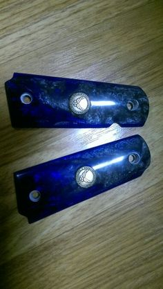 1911 pistol grips, acrylic w/ bronze air force inlay