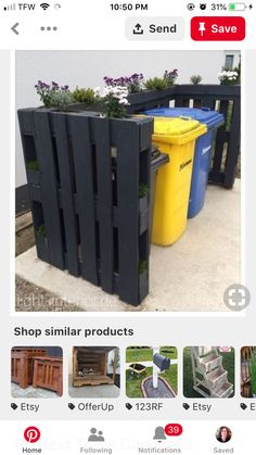 Outdoor Projects, Garden Projects, Diy Projects, Outdoor Decor, House Tweaking, Garbage Can, Outside Living, Trash Bins, Wood Planters