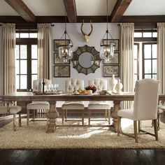 Rustic Dining Room Design Ideas, Pictures, Remodel, and Decor - page 8