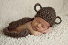 Knit Crochet Monkey Cape
