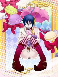 Blue Exorcist ~~ Macaroons and Mephisto... Both are tasty!