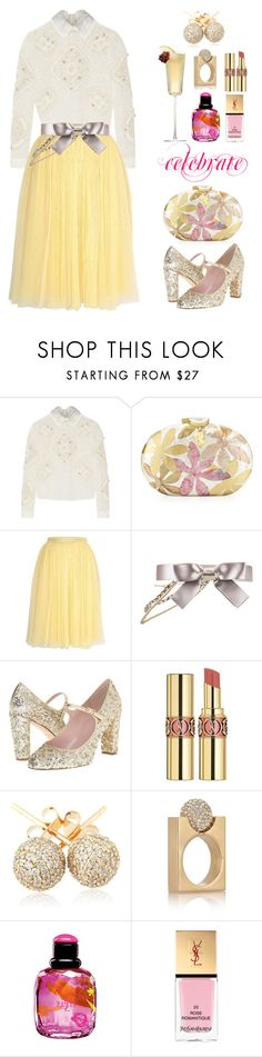 """New Year bash"" by collagette ❤ liked on Polyvore featuring Peter Pilotto, Rafe, Needle & Thread, Chanel, Kate Spade, Yves Saint Laurent, Loushelou, Chloé and estyle"