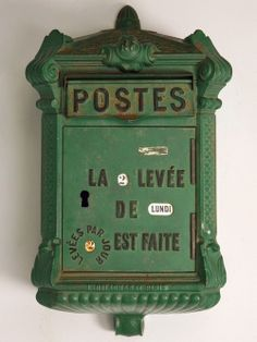 Old French postal box - I'd find a place for it...
