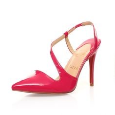 Women with thin pointed cross strap high heels