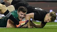 Autumn International: Ireland hold nerve to earn first home win over All Blacks Irish Rugby, Rugby Men, All Blacks, Bbc News, New Day, Hold On, Wordpress, Autumn